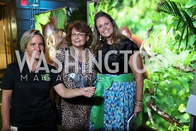 Amy Eveleth, Randi Rubovits-Seitz, Annalisa Meyer. Photo by Tony Powell. Inaugural Monkey Ball. Kogod Courtyard. September 28, 2017