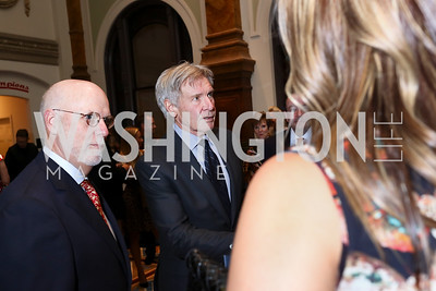 Dennis Kelly, Harrison Ford. Photo by Tony Powell. Inaugural Monkey Ball. Kogod Courtyard. September 28, 2017