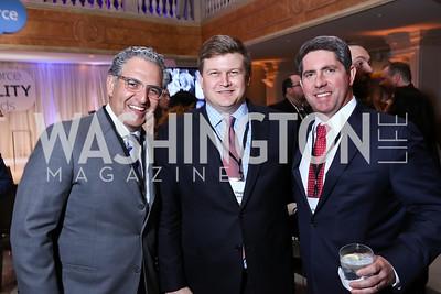 Jake Perry, Hugh Gamble, Hunter Moorhead. Photo by Tony Powell. Inaugural Salesforce Equality Awards. NMWA. April 3, 2017