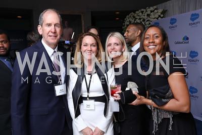 Mark Hawkins, Terri Boyle, Katrina Bonner Witt, Pam Duffy. Photo by Tony Powell. Inaugural Salesforce Equality Awards. NMWA. April 3, 2017
