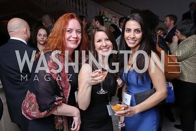 Hilary Zarenejad, Carolyn Carpenter, Fariba Ahdoot. Photo by Tony Powell. Inaugural Salesforce Equality Awards. NMWA. April 3, 2017