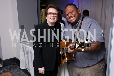 Honoree Billie Jean King, LT Smooth. Photo by Tony Powell. Inaugural Salesforce Equality Awards. NMWA. April 3, 2017