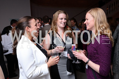 Jessica Hood, Gillian Bruce, Kris Lande. Photo by Tony Powell. Inaugural Salesforce Equality Awards. NMWA. April 3, 2017