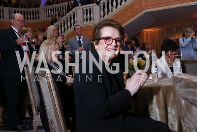 Honoree Billie Jean King. Photo by Tony Powell. Inaugural Salesforce Equality Awards. NMWA. April 3, 2017