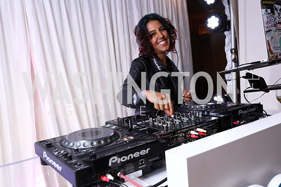 DJ Ayescold. Photo by Tony Powell. Inaugural Salesforce Equality Awards. NMWA. April 3, 2017