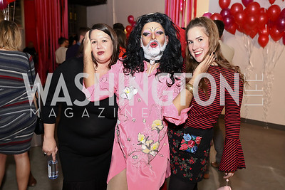 Victoria Reis, Kunj, Georgie Payne. Photo by Tony Powell. Inaugural Transformer Heartbreakers Ball. February 14, 2017