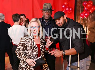 Kate Damon, Ade'bayo Lawal MD, Noel Sesay. Photo by Tony Powell. Inaugural Transformer Heartbreakers Ball. February 14, 2017