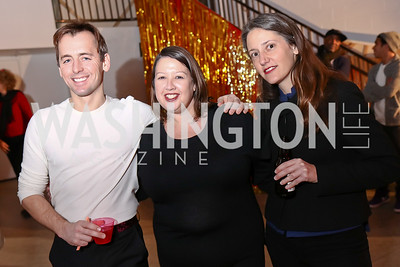 Timothy Bouley, Victoria Reis, Flore de Preneuf. Photo by Tony Powell. Inaugural Transformer Heartbreakers Ball. February 14, 2017