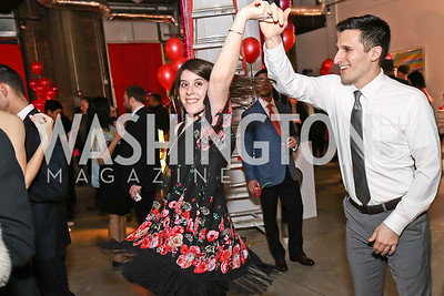 Joe Marhamati, Chelsea Thaler. Photo by Tony Powell. Inaugural Transformer Heartbreakers Ball. February 14, 2017