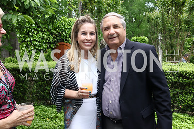 Kristen Thomaselli, Alan Zuccari. Photo by Tony Powell. Inaugural Women of Compassion Award Brunch. Zuccari Residence. May 2, 2017