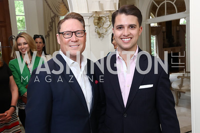 Timothy Lowery, Michael Zingali. Photo by Tony Powell. Inaugural Women of Compassion Award Brunch. Zuccari Residence. May 2, 2017
