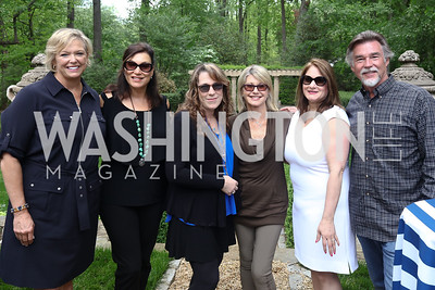Malene Davis, Amy Sky, Beth Nielsen Chapman, Olivia Newton-John, Lisa Zuccari, John Easterling. Photo by Tony Powell. Inaugural Women of Compassion Award Brunch. Zuccari Residence. May 2, 2017
