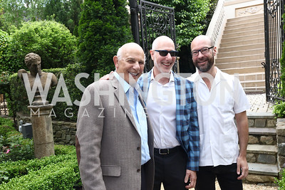 Len Adler, Dan Adler, Matt Howe. Photo by Tony Powell. Inaugural Women of Compassion Award Brunch. Zuccari Residence. May 2, 2017