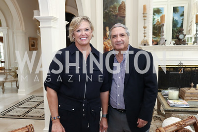 Malene Davis, Alan Zuccari. Photo by Tony Powell. Inaugural Women of Compassion Award Brunch. Zuccari Residence. May 2, 2017