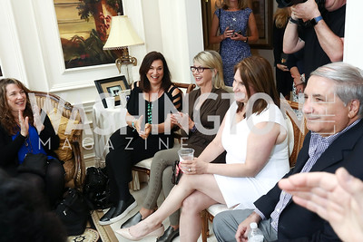Beth Nielsen Chapman, Olivia Newton-John, Amy Sky, Lisa and Alan Zuccari. Photo by Tony Powell. Inaugural Women of Compassion Award Brunch. Zuccari Residence. May 2, 2017