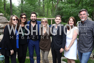 Beth Nielsen Chapman, Amy Sky, Jason Zuccari, Olivia Newton-John, Jarred Zuccari, Lisa Zuccari, John Easterling. Photo by Tony Powell. Inaugural Women of Compassion Award Brunch. Zuccari Residence. May 2, 2017