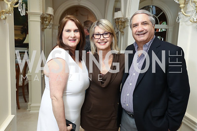 Lisa Zuccari, Olivia Newton-John, Alan Zuccari. Photo by Tony Powell. Inaugural Women of Compassion Award Brunch. Zuccari Residence. May 2, 2017