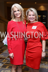 Kellyanne Conway, Marlene Colucci. Photo by Tony Powell. Sister Cities Inaugural Breakfast. Four Seasons. January 19, 2017