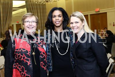 Kathleen Ham, Marie Sylla, Christine Kurth. Photo by Tony Powell. Sister Cities Inaugural Breakfast. Four Seasons. January 19, 2017
