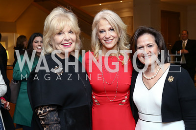 Patricia Harrison, Kellyanne Conway, Anita McBride. Photo by Tony Powell. Sister Cities Inaugural Breakfast. Four Seasons. January 19, 2017