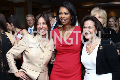 Shelley Hymes, Fox News' Harris Faulkner, Anita McBride. Photo by Tony Powell. Sister Cities Inaugural Breakfast. Four Seasons. January 19, 2017