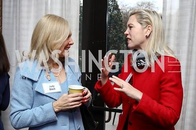 Judy Black, Jane Adams. Photo by Tony Powell. Sister Cities Inaugural Breakfast. Four Seasons. January 19, 2017