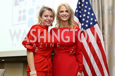 Marlene Colucci, Kellyanne Conway. Photo by Tony Powell. Sister Cities Inaugural Breakfast. Four Seasons. January 19, 2017