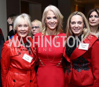 Patricia Duggan, Kellyanne Conway, Meredith Hope. Photo by Tony Powell. Sister Cities Inaugural Breakfast. Four Seasons. January 19, 2017
