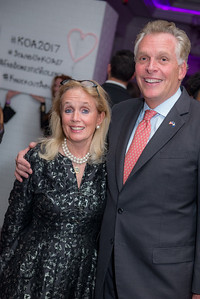 Congresswoman Debbie Dingell, Governor Terry McAuliffe, 24 Annual Knock Out Abuse Gala, at the Ritz-Carlton, November 2, 2017. Photo by Ben Droz.