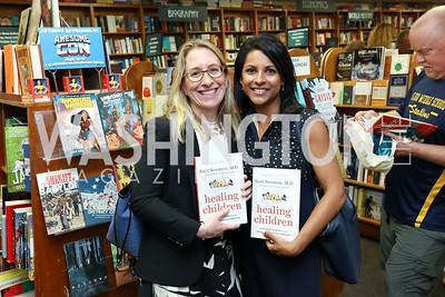 "Danielle Dooley, Chaya Merrill. Photo by Tony Powell. Kurt Newman ""Healing Children"" Book Party. Politics & Prose. June 19, 2017"