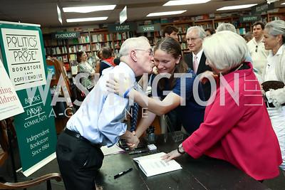 "Dr. Kurt Newman, Leigh Bianchi, Phil Verveer and Melanne Verveer. Photo by Tony Powell. Kurt Newman ""Healing Children"" Book Party. Politics & Prose. June 19, 2017"