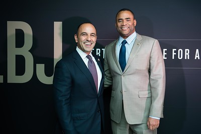 Jimmy Panetta, Marc Veasey. LBJ Foundation awarded its most prestigious prize, the LBJ Liberty & Justice for All Award, to philanthropist David M. Rubenstein on November 8, 2017.  Photography by Joy Asico