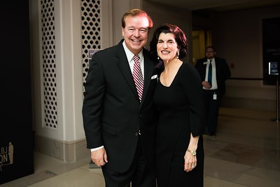 Luci Baines Johnson and friend. LBJ Foundation awarded its most prestigious prize, the LBJ Liberty & Justice for All Award, to philanthropist David M. Rubenstein on November 8, 2017.  Photography by Joy Asico