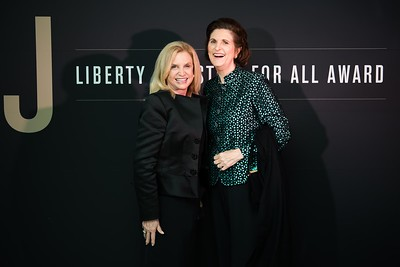 Carolyn Maloney and Lynda Bird Johnson Robb. LBJ Foundation awarded its most prestigious prize, the LBJ Liberty & Justice for All Award, to philanthropist David M. Rubenstein on November 8, 2017.  Photography by Joy Asico