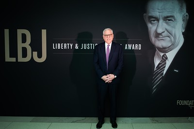 David Rubenstein. LBJ Foundation awarded its most prestigious prize, the LBJ Liberty & Justice for All Award, to philanthropist David M. Rubenstein on November 8, 2017.  Photography by Joy Asico