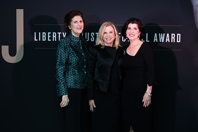 Lynda Bird Johnson Robb, Carolyn Maloney, Luci Baines Johnson. LBJ Foundation awarded its most prestigious prize, the LBJ Liberty & Justice for All Award, to philanthropist David M. Rubenstein on November 8, 2017.  Photography by Joy Asico
