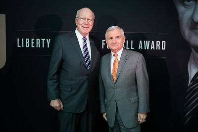Patrick Leahy and Jack Reed. LBJ Foundation awarded its most prestigious prize, the LBJ Liberty & Justice for All Award, to philanthropist David M. Rubenstein on November 8, 2017.  Photography by Joy Asico