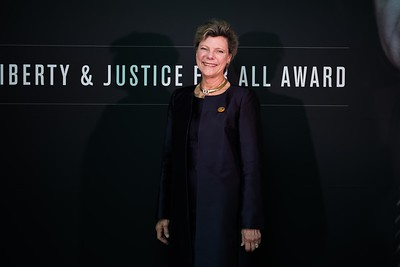Cokie Roberts. LBJ Foundation awarded its most prestigious prize, the LBJ Liberty & Justice for All Award, to philanthropist David M. Rubenstein on November 8, 2017.  Photography by Joy Asico