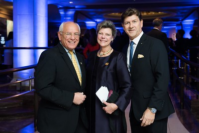 Paul Tonko, Cokie Roberts, Friend. LBJ Foundation awarded its most prestigious prize, the LBJ Liberty & Justice for All Award, to philanthropist David M. Rubenstein on November 8, 2017.  Photography by Joy Asico