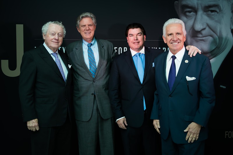 Thomas Quinn, Frank Pallone, Gerald Harrington, Jim Costa. LBJ Foundation awarded its most prestigious prize, the LBJ Liberty & Justice for All Award, to philanthropist David M. Rubenstein on November 8, 2017.  Photography by Joy Asico