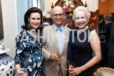 Alexandra de Borchgrave, Bill Nitze, Jeannie Rutherfoord. Photo by Tony Powell. Lawrence Kudlow Book Party. Ross Residence. August 2, 2017