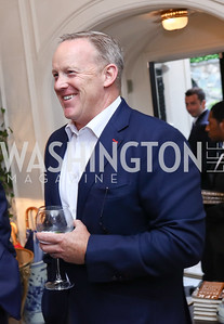 Sean Spicer. Photo by Tony Powell. Lawrence Kudlow Book Party. Ross Residence. August 2, 2017