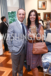 Italy Amb. Armando Varricchio and Micaela Varricchio. Photo by Tony Powell. Lawrence Kudlow Book Party. Ross Residence. August 2, 2017