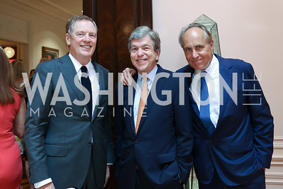 Robert Lighthizer, Roy Blunt, Chris Isham. Photo by Tony Powell. Lawrence Kudlow Book Party. Ross Residence. August 2, 2017