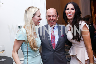 Louise Linton, Sec. Wilbur Ross, Amy Baier. Photo by Tony Powell. Lawrence Kudlow Book Party. Ross Residence. August 2, 2017
