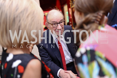 Alan Greenspan. Photo by Tony Powell. Lawrence Kudlow Book Party. Ross Residence. August 2, 2017
