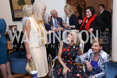 Kellyanne Conway, Andrea Mitchell, Adrienne Arsht. Photo by Tony Powell. Lawrence Kudlow Book Party. Ross Residence. August 2, 2017