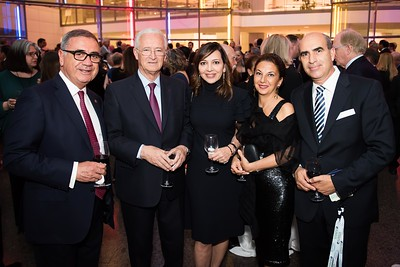 Ferhat Tigrel, Louis Gomani, Ashlihan Oymen, Ipek Tigrel, Yasin Ekinci. Photo by Joy Asico. Longines Ladies Award 2017. Ronald Reagan Building. May 19, 2017