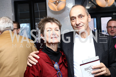 Dorothy Kosinski and Thomas Krahenbuhl. Photo by Tony Powell. Manuela's Fearless Woman Award. Il Canale. January 8, 2017