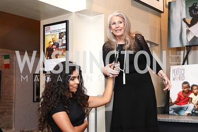 Manuela Testolini, Barbara Hawthorn. Photo by Tony Powell. Manuela's Fearless Woman Award. Il Canale. January 8, 2017